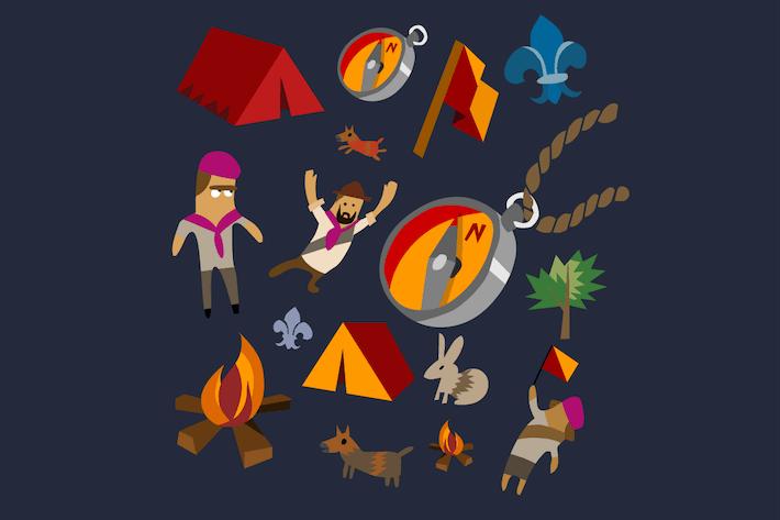 Thumbnail for Camping set flat