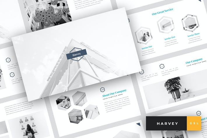 Harvey - Creative Google Slides Template