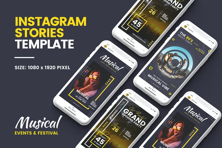 Thumbnail for Music Instagram Story Template