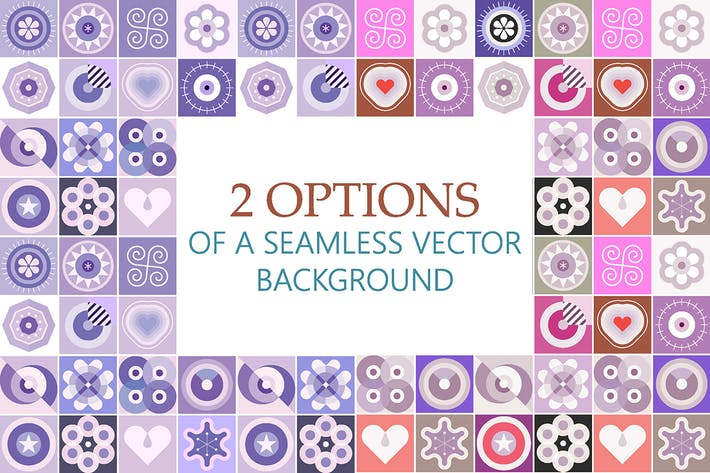 Thumbnail for 2 Options of a Seamless Patterns Vector Background