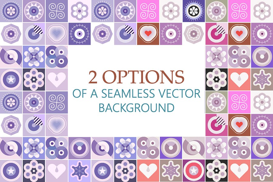 2 Options of a Seamless Patterns Vector Background - product preview 0