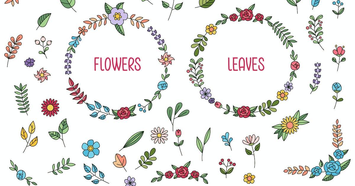 Download Flower & Leaf Hand Drawn by vintagio