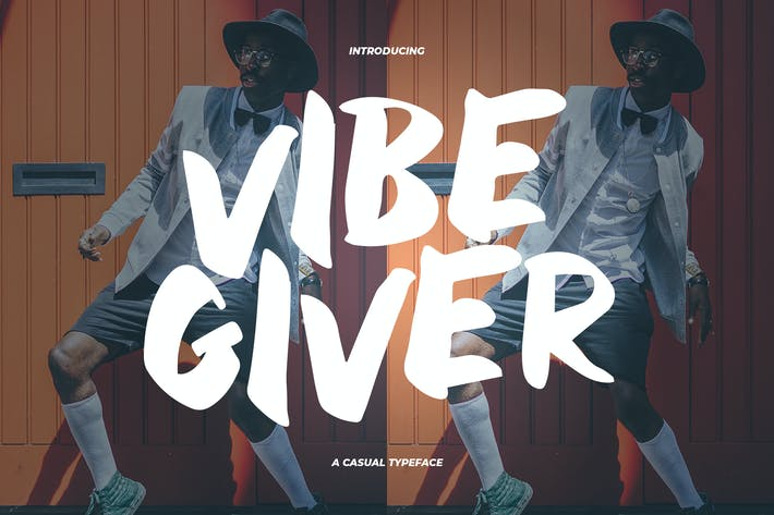 Thumbnail for VibeGiver  - A Casual Typeface