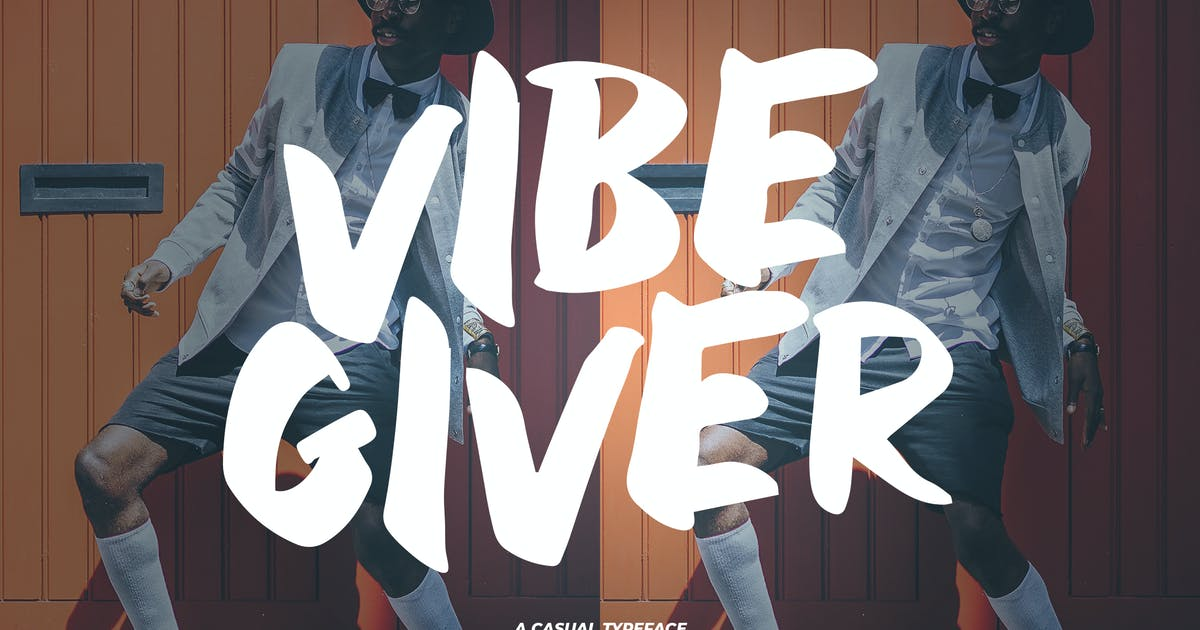 Download VibeGiver  - A Casual Typeface by Slidehack