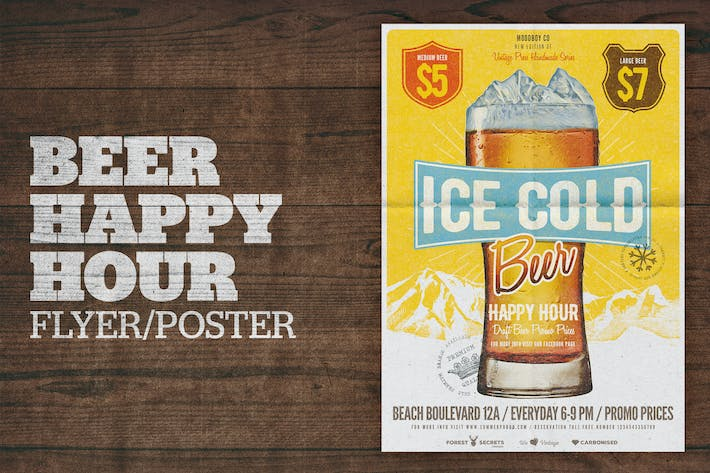 Cover Image For Beer Happy Hour Flyer / Poster