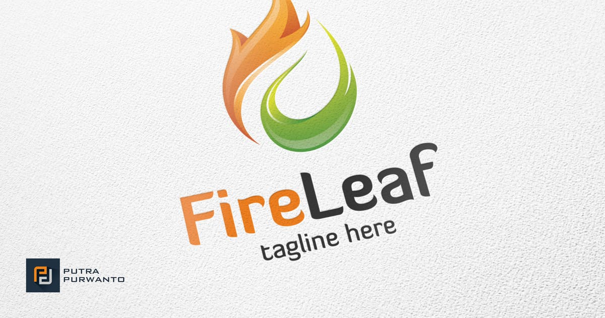 Download Fire Leaf - Logo Template by putra_purwanto