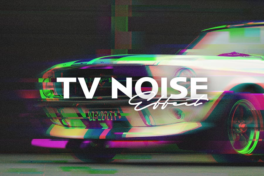 TV Noise Photo Effect