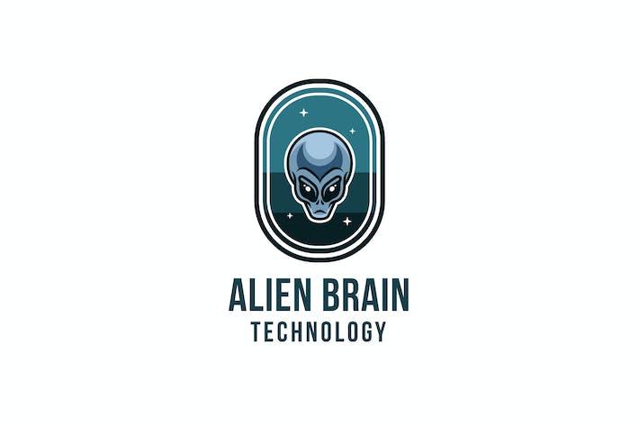 Thumbnail for Alien Brain Technology Logo Template