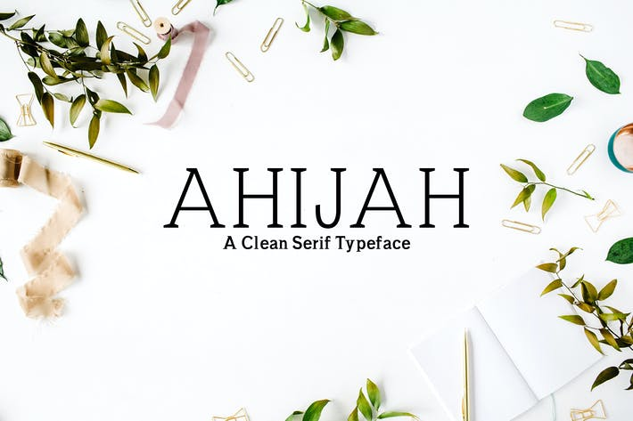 Thumbnail for Ahijah A Clean Serif Font Family