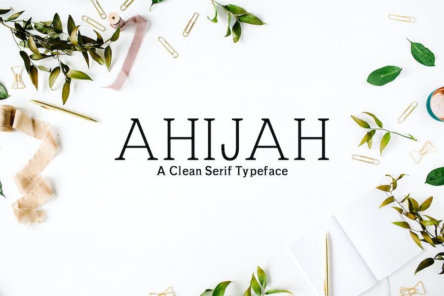 Ahijah A Clean Con serifa Familia tipográfica
