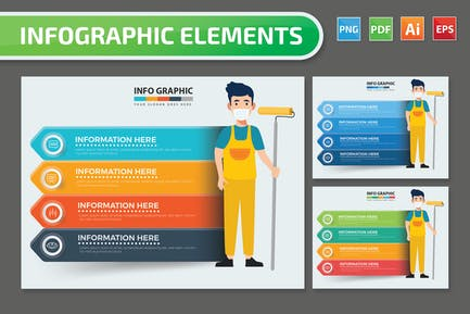Cleaning staff Infographics