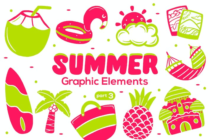 Thumbnail for Summer Graphic Elements part 3