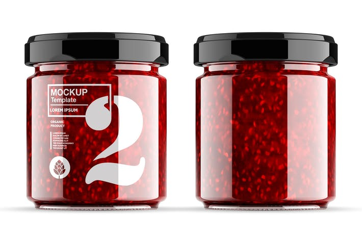 Thumbnail for Strawberry Jam Jar Mockup