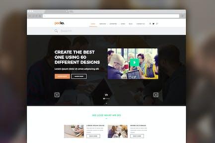 Peeko – Photography Website PSD Template