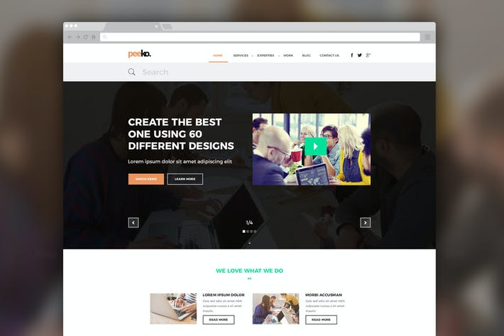 Thumbnail for Peeko – Photography Website PSD Template