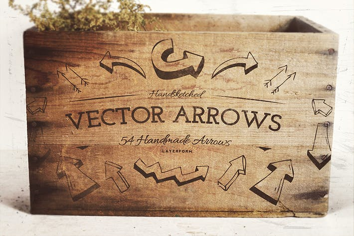 Thumbnail for 54 Handsketched Vector Arrows