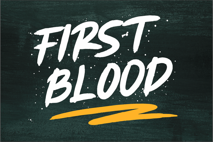Thumbnail for First Blood - Natural Brush Font