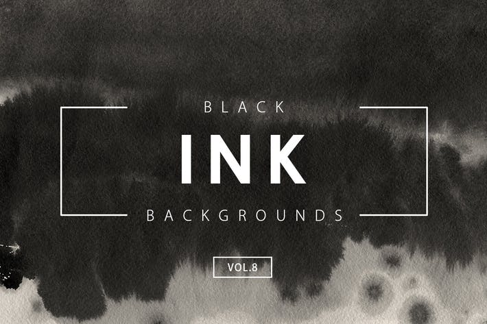 Cover Image For Black Ink Backgrounds Vol.8