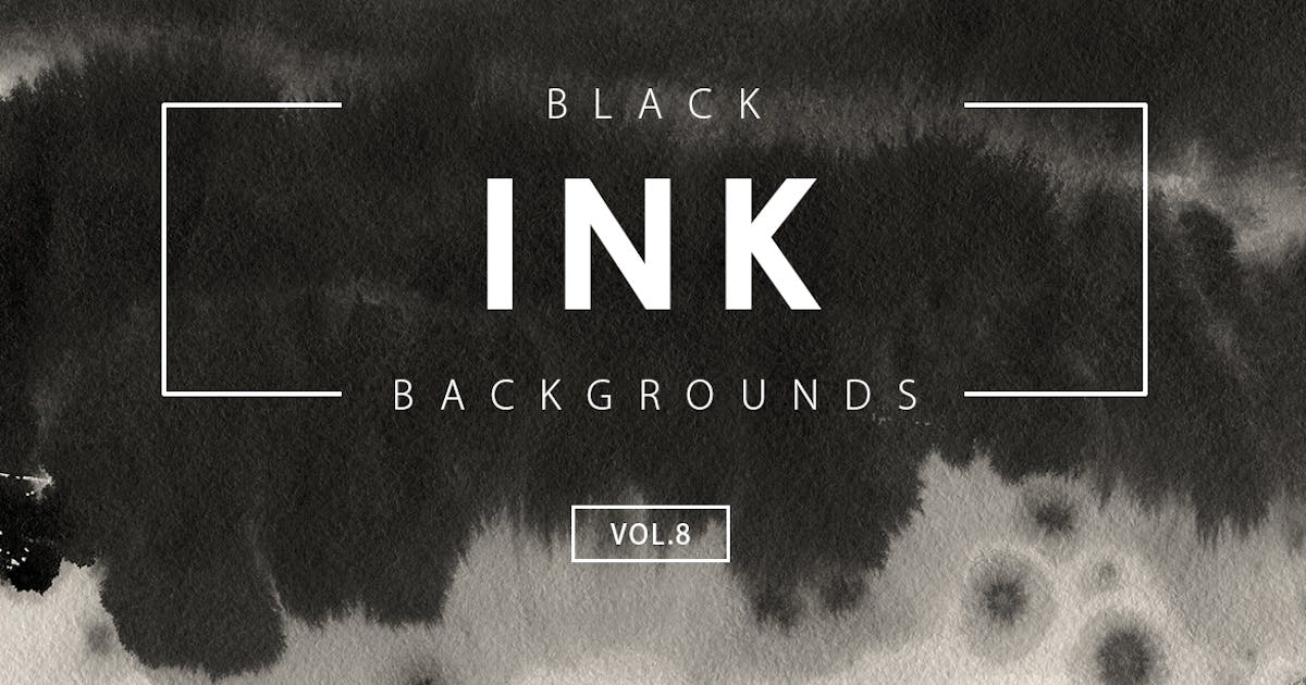 Black Ink Backgrounds Vol.8 by M-e-f
