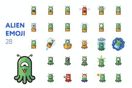 Alien-Emoji-Set