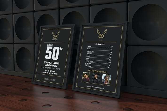 Cover Image For Barbershop Flyer Template
