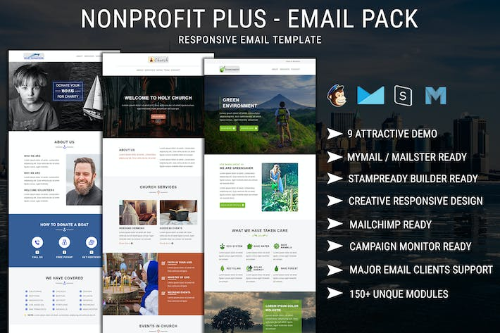 Thumbnail for Nonprofit Plus - Email Pack