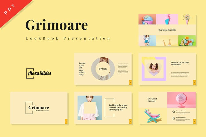 Thumbnail for Grimoare - Lookbook Powerpoint Template