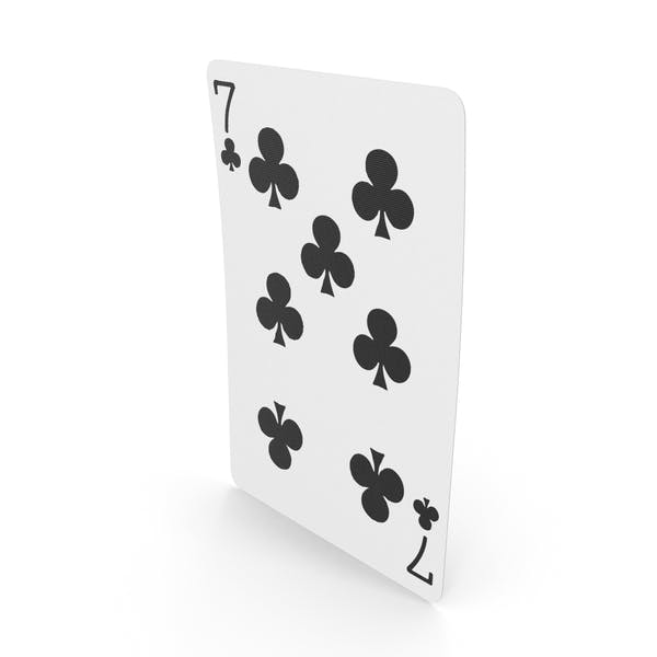 Playing Cards 7 Clubs