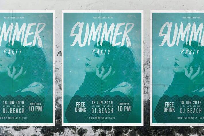 Thumbnail for Sommer-Party-Flyer