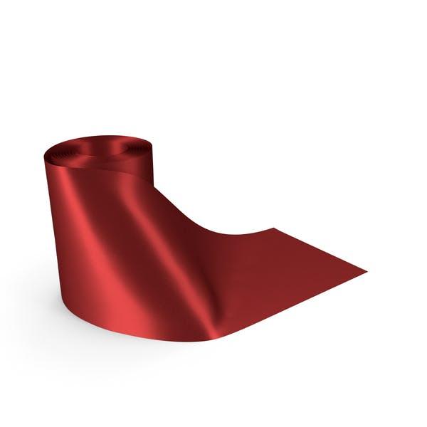 Red Round Roll Silk Ribbon