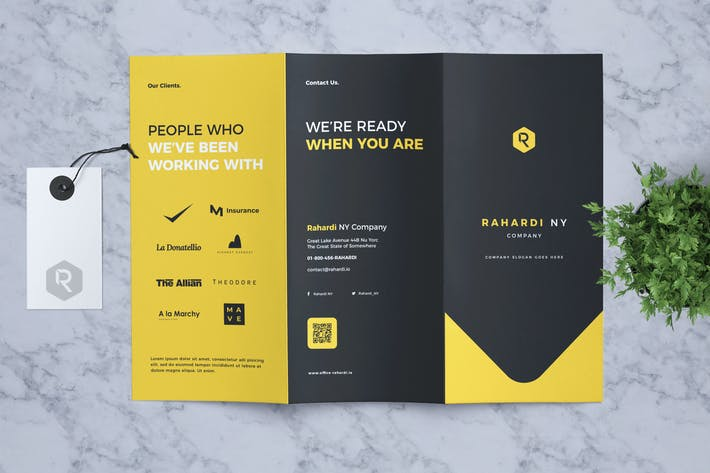 Thumbnail for Corporate Business Trifold Flyer Vol. 03