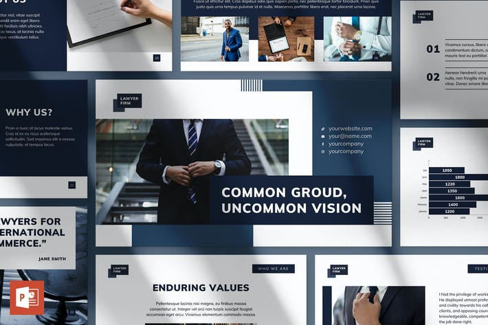 Thumbnail for Law Firm PowerPoint Presentation Template