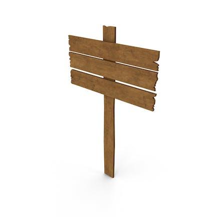 Señal de madera