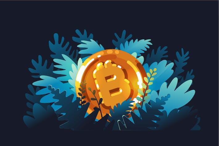 Thumbnail for Logo de Bitcoin en brillante color dorado