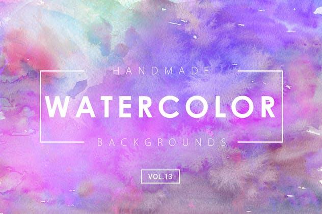 Handmade Watercolor Backgrounds Vol.13