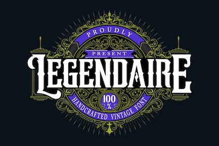 Legendarie | Handcrafted Vintage Font