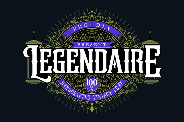 Thumbnail for Legendarie | Handcrafted Vintage Font