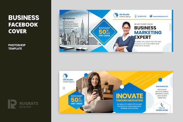 Business r17 Facebook Cover Template - product preview 0