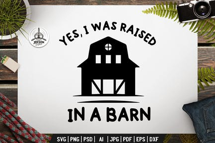 Farm Badge Design. Silhouette Farming Template