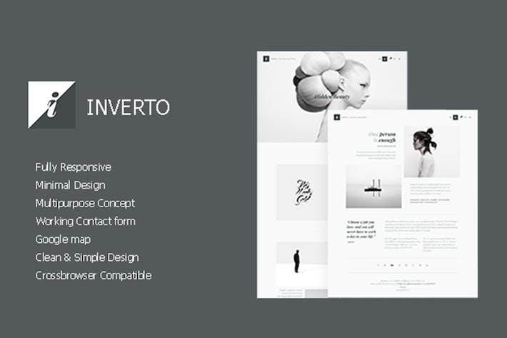 Thumbnail for Inverto - Minimal HTML Theme
