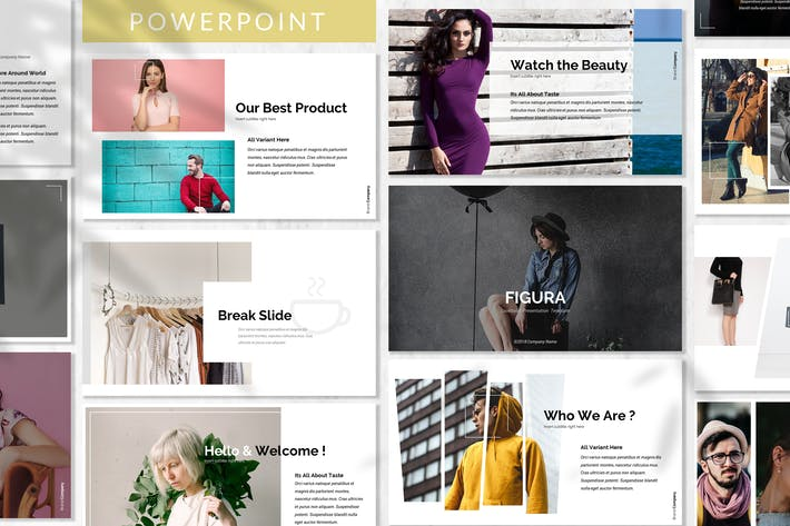 Cover Image For Figura - Fashion Powerpoint Template