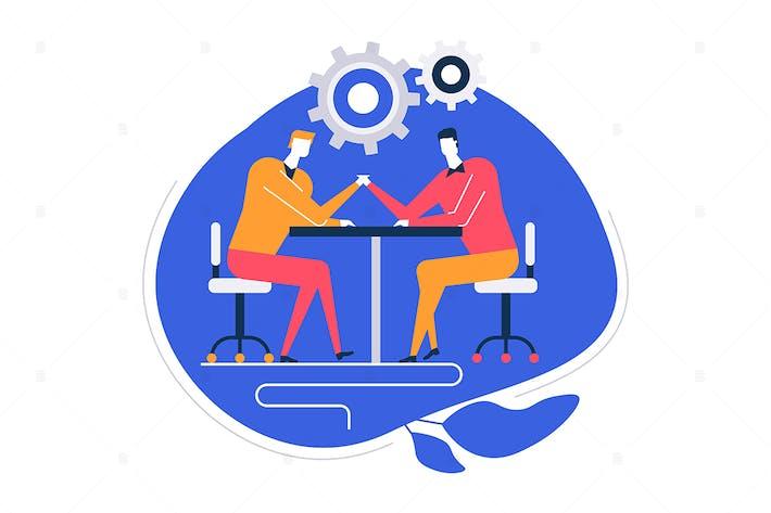 Thumbnail for Business challenge - flat illustration