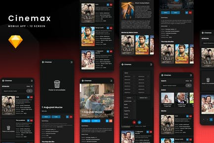 Cinemax Mobile - Movie Theater Sketch Template