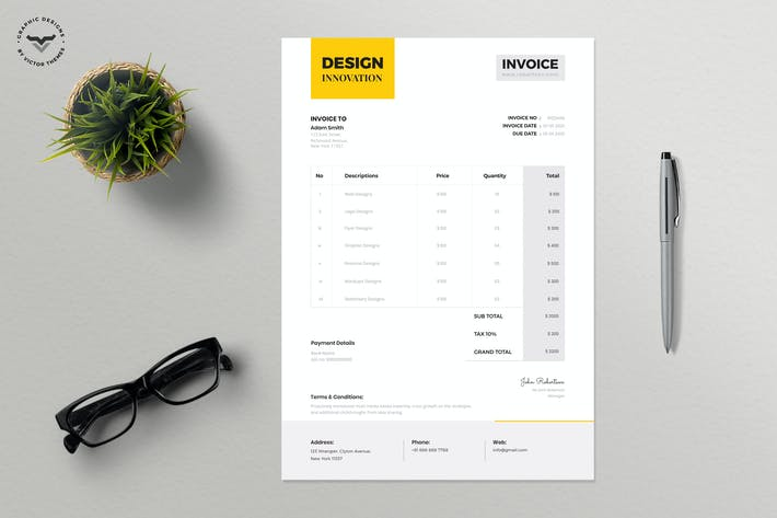 Thumbnail for Minimal Invoice Template