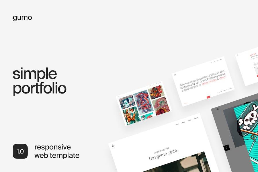 Gumo   Easy & Creative Portfolio Template