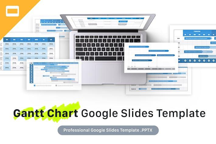 Thumbnail for Gantt Chart Google slides Template