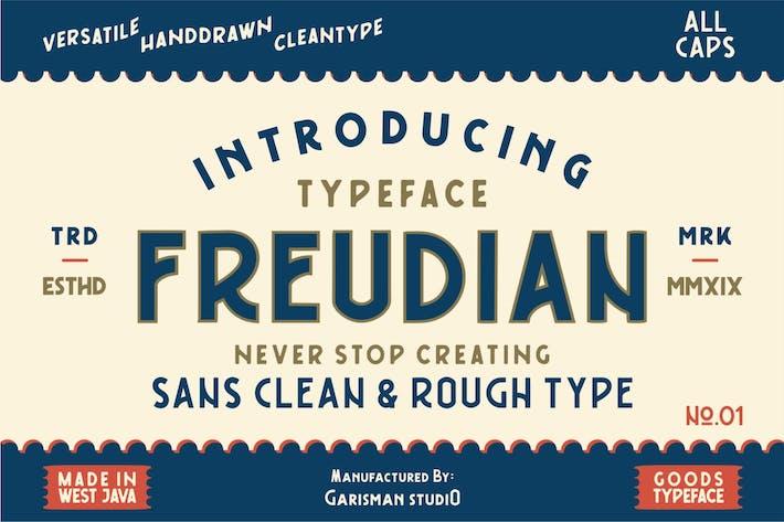 Thumbnail for Freudian | Tipo de letra retro