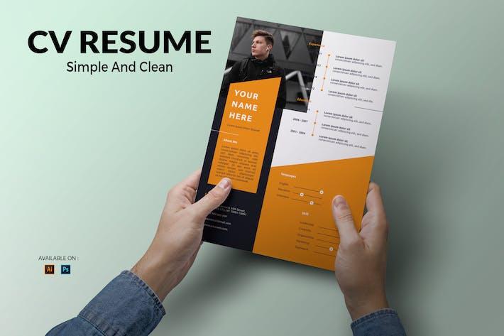 Thumbnail for CV Resume Simple And Elegant