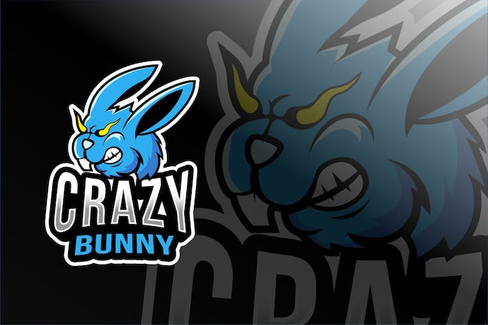 Thumbnail for Crazy Bunny Esport Logo Template
