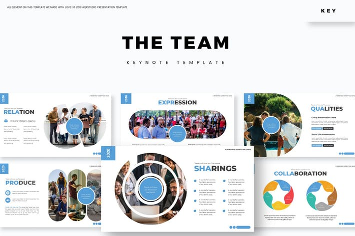 Thumbnail for The Team - Keynote Template